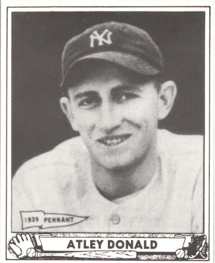 1940 Play Ball Reprints #121 Atley Donald