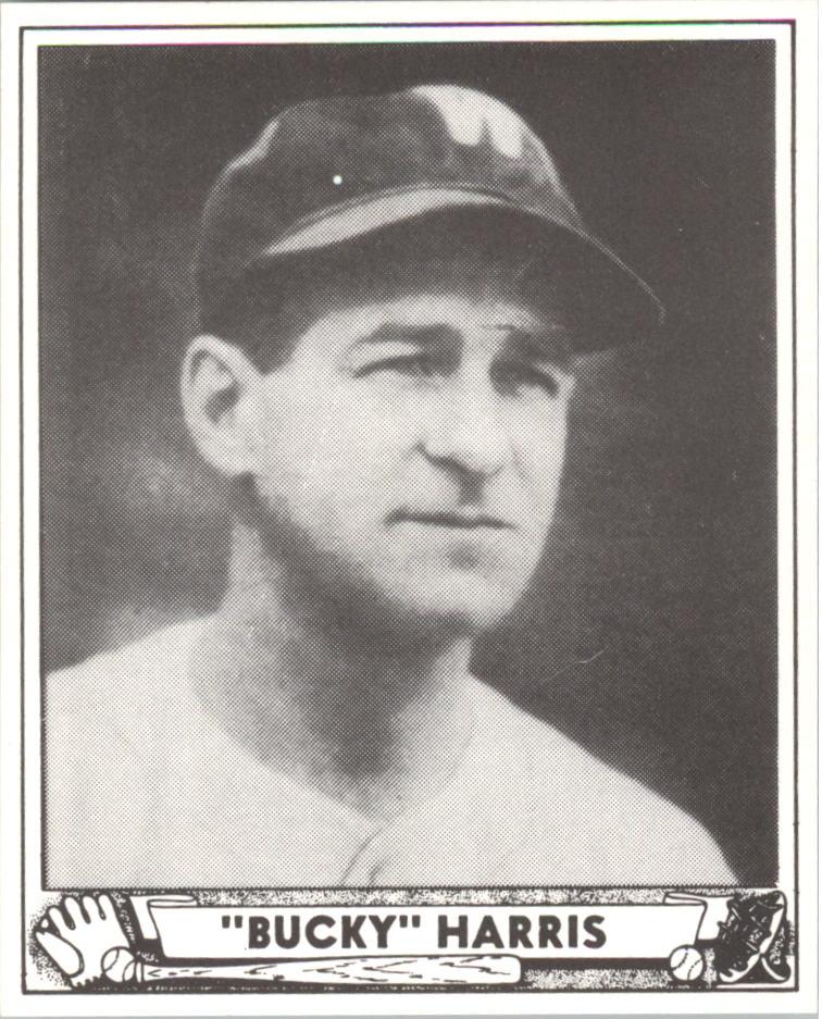 1940 Play Ball Reprints #129 Bucky Harris MG