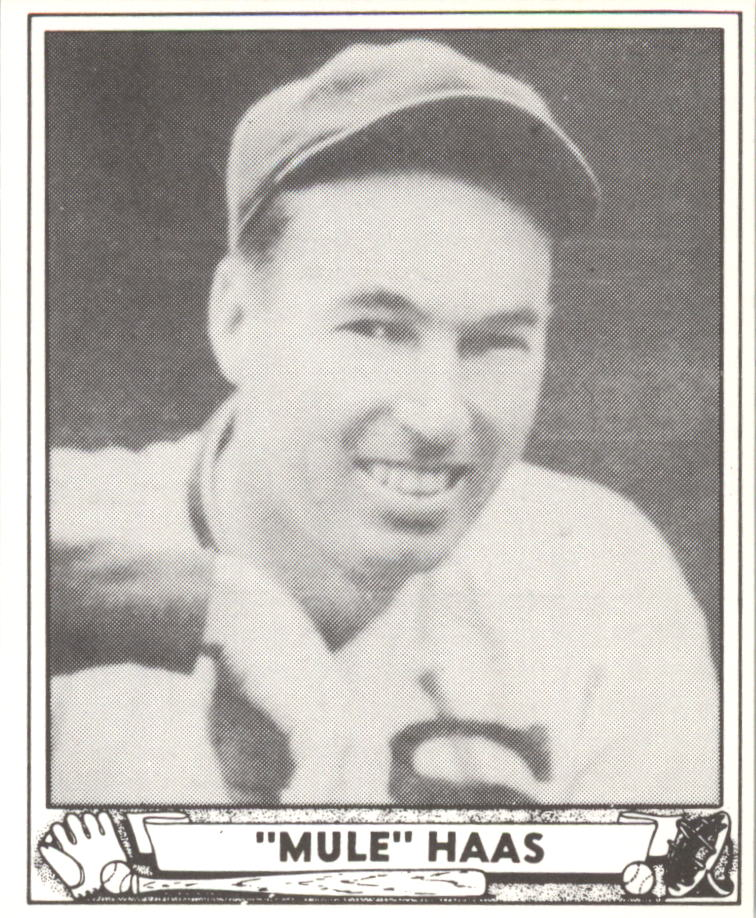 1940 Play Ball Reprints #184 Mule Haas