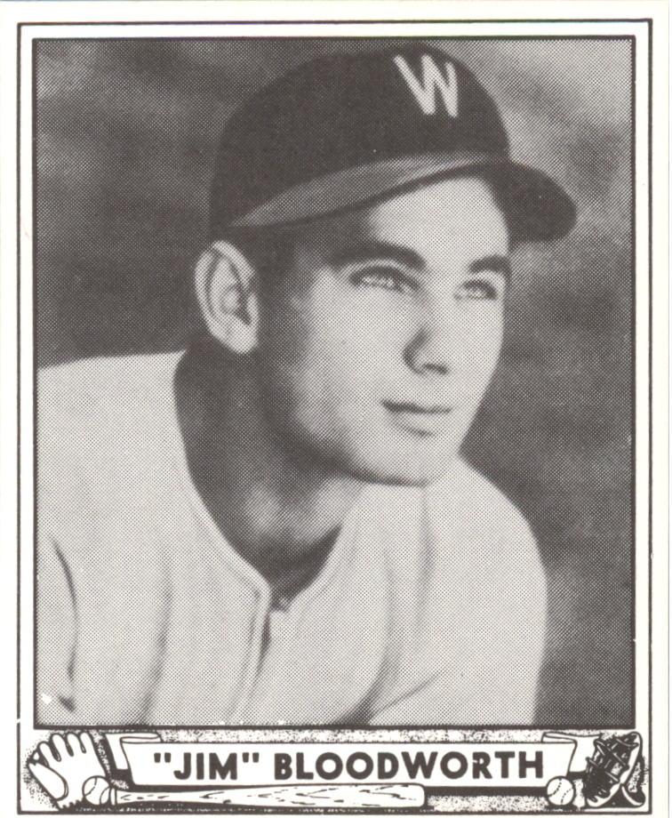 1940 Play Ball Reprints #189 Jim Bloodworth