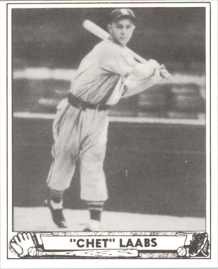 1940 Play Ball Reprints #206 Chet Laabs