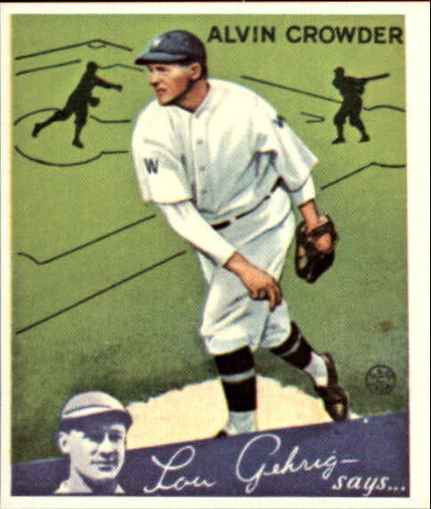 1934 Goudey '85 Reprints #15 Alvin Crowder