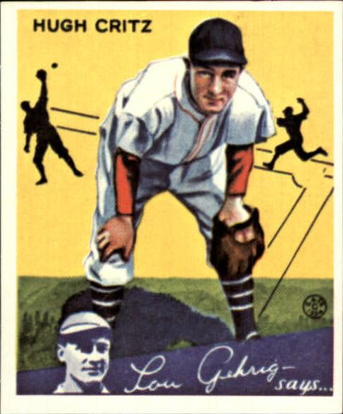 1934 Goudey '85 Reprints #17 Hugh Critz
