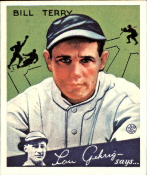 1934 Goudey '85 Reprints #21 Bill Terry