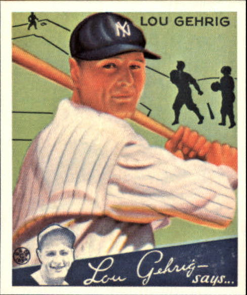 1934 Goudey '85 Reprints #61 Lou Gehrig