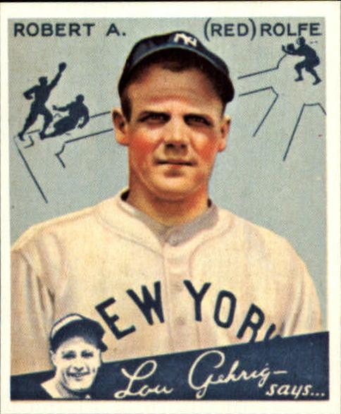 1934 Goudey '85 Reprints #94 Red Rolfe