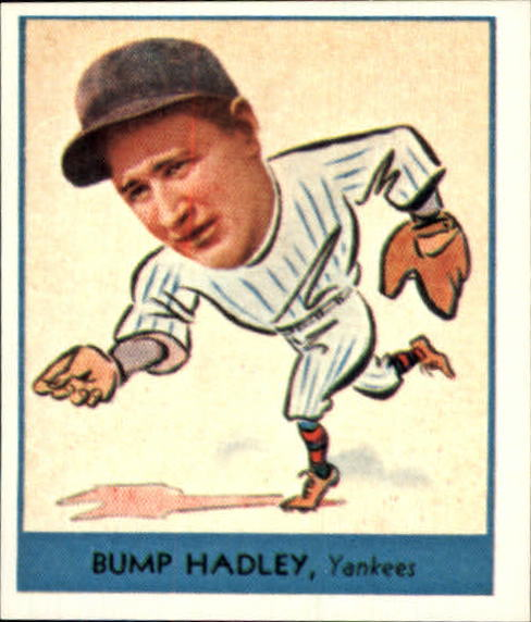 1938 Goudey Heads-Up '85 Reprints #251 Bump Hadley