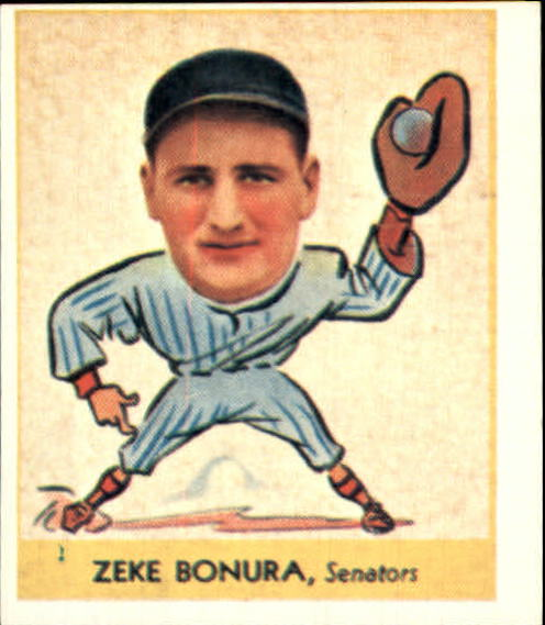 1938 Goudey Heads-Up '85 Reprints #252 Zeke Bonura