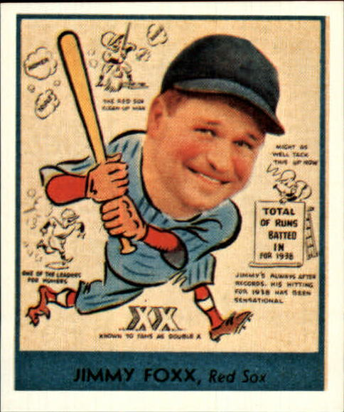 1938 Goudey Heads-Up '85 Reprints #273 Jimmie Foxx