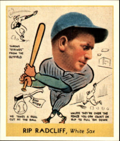 1938 Goudey Heads-Up '85 Reprints #285 Rip Radcliff