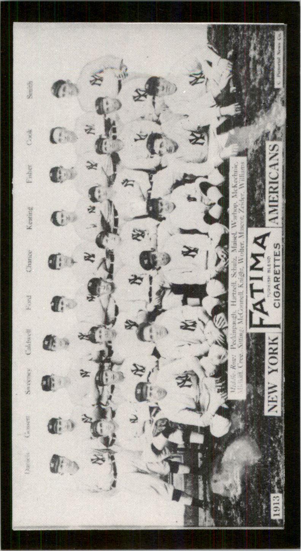 1913 Fatima Teams T200 '88 Reprints #5 New York Americans