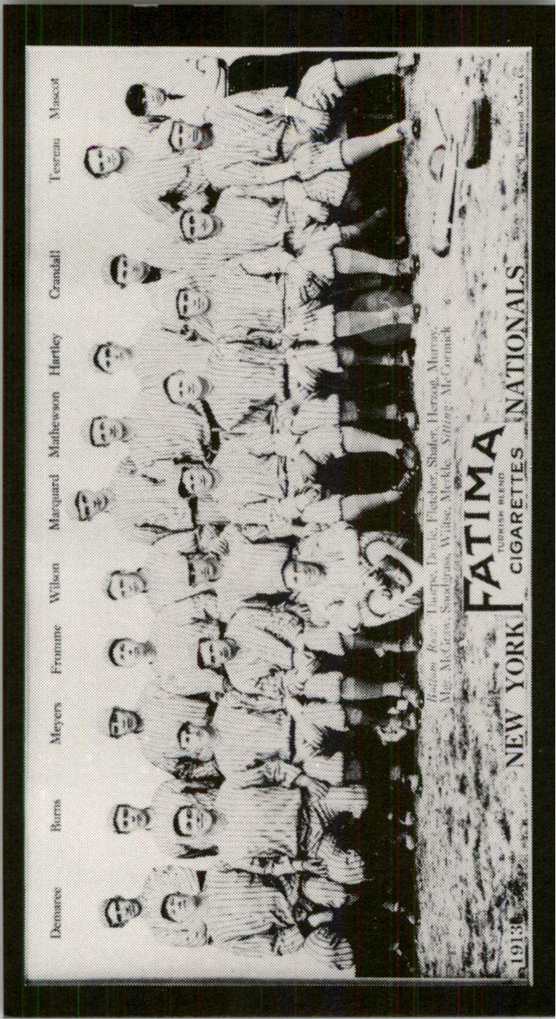 1913 Fatima Teams T200 '88 Reprints #13 New York Nationals