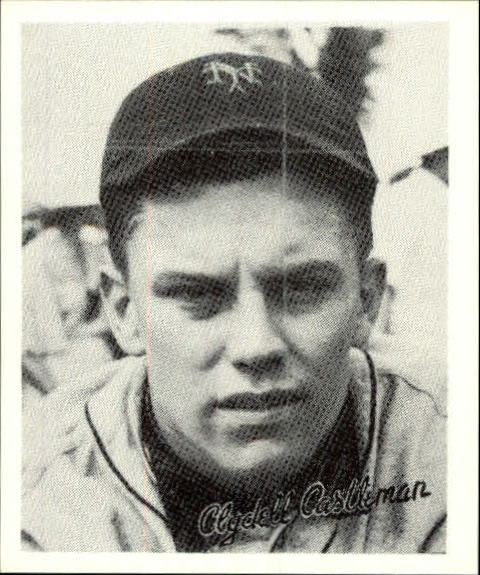 1936 Goudey Black and White '88 Reprints #6 Clyde Castleman