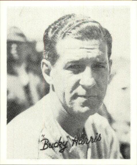 1936 Goudey Black and White '88 Reprints #16 Bucky Harris