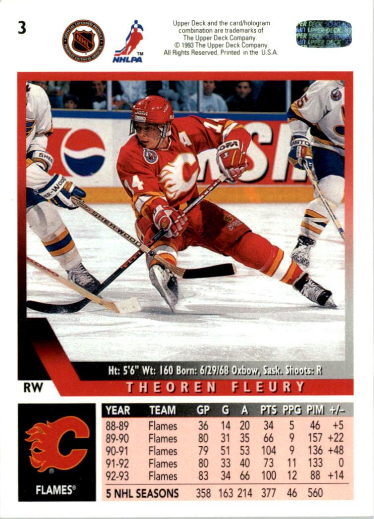1993-94 Upper Deck #3 Theo Fleury back image