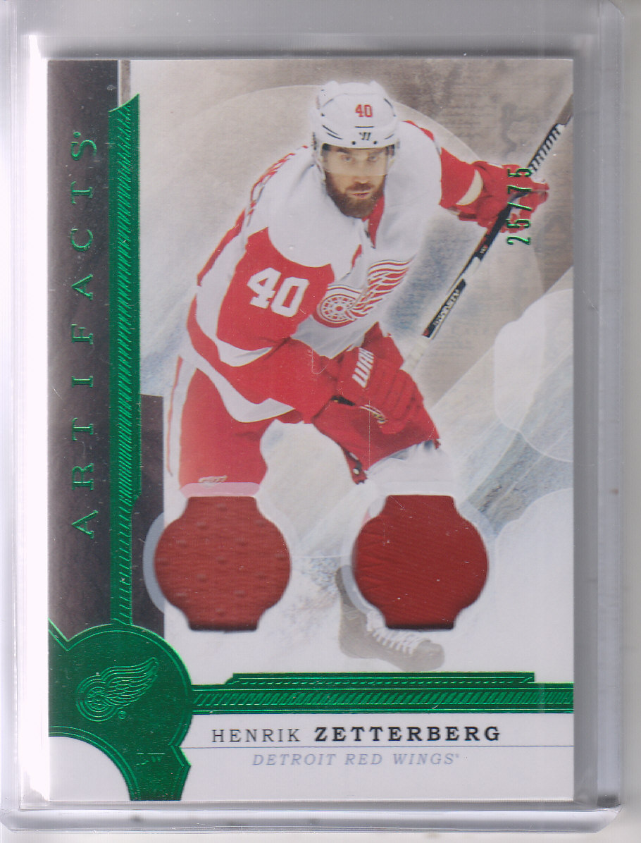 2016-17 Artifacts Materials Emerald #80 Henrik Zetterberg