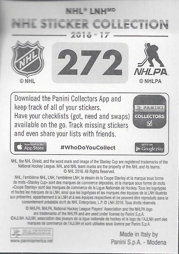 2016-17-Panini-Stickers-Hockey-Pick-272-503 thumbnail 3