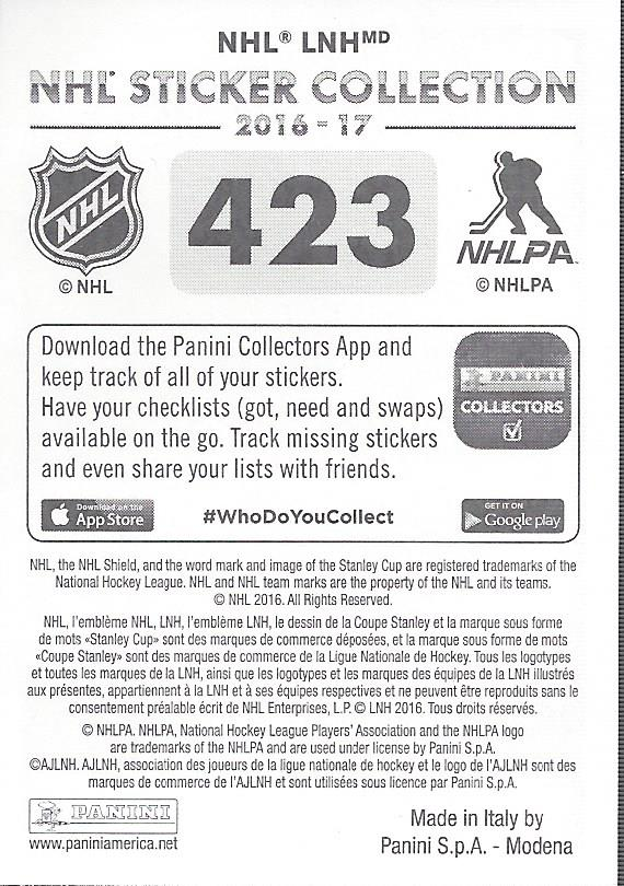 2016-17-Panini-Stickers-Hockey-Pick-272-503 thumbnail 143