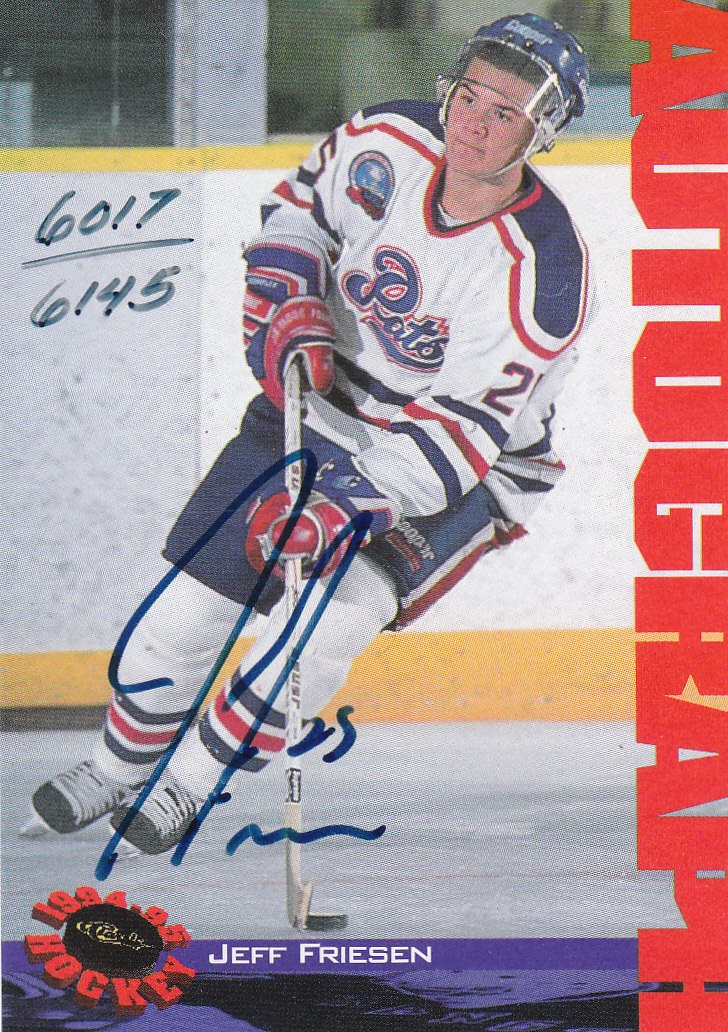 1994 Classic Autographs #10 Jeff Friesen/6145