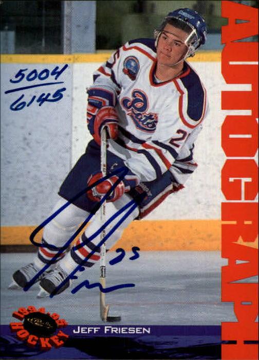 1994 Classic Autographs #10 Jeff Friesen/6145