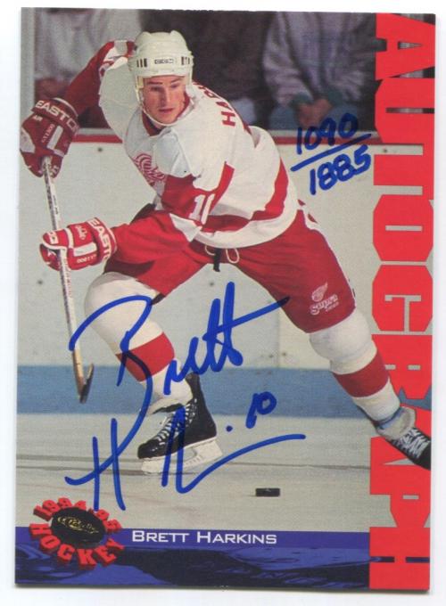 1994 Classic Autographs #NNO Brett Harkins/1885