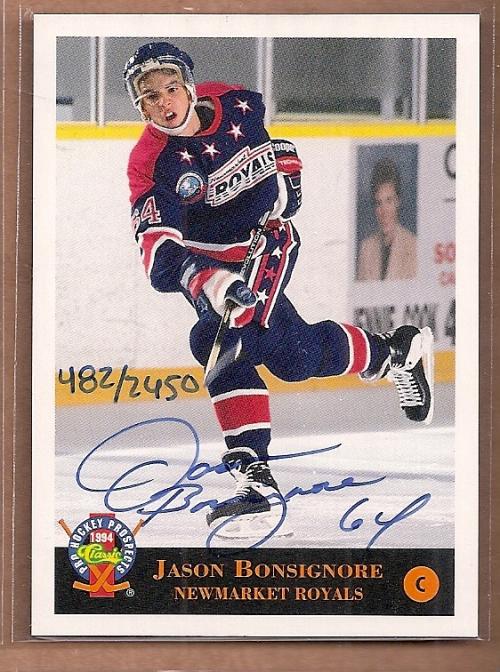 1994 Classic Pro Prospects Autographs #AU2 J.Bonsignore AU/2450