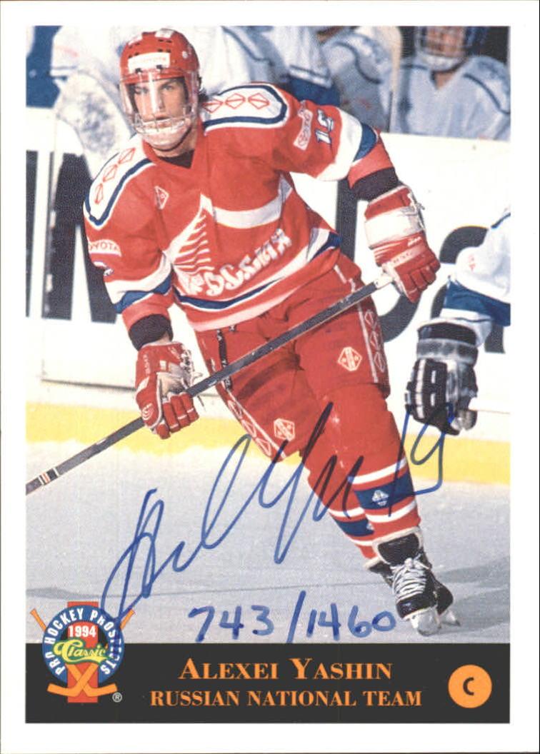 1994 Classic Pro Prospects Autographs #AU9 A.Yashin AU/1400