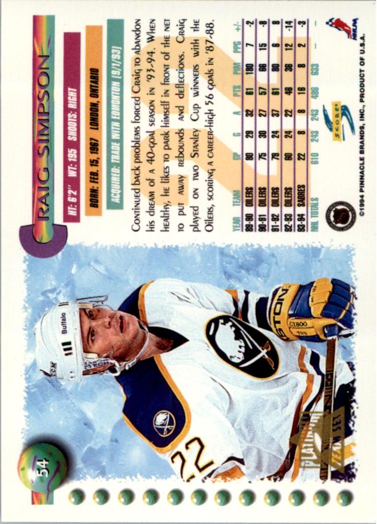 1994-95-Score-Platinum-Hockey-Card-Pick thumbnail 33