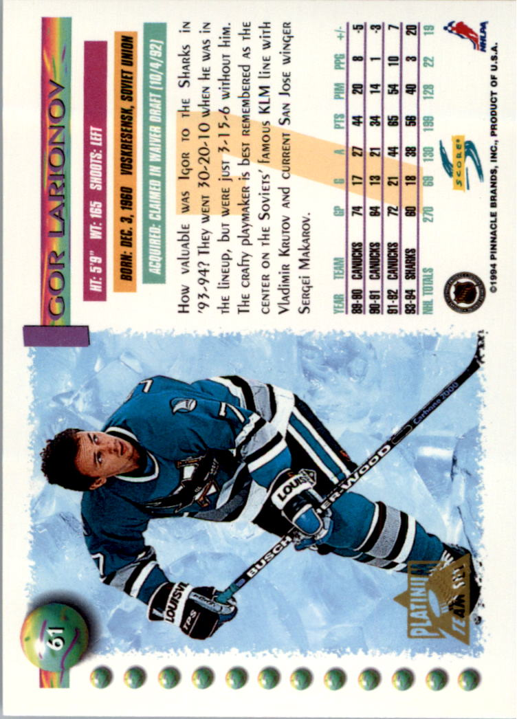1994-95-Score-Platinum-Hockey-Card-Pick thumbnail 41