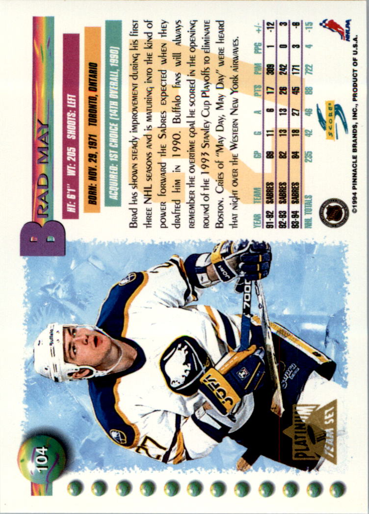 1994-95-Score-Platinum-Hockey-Card-Pick thumbnail 67