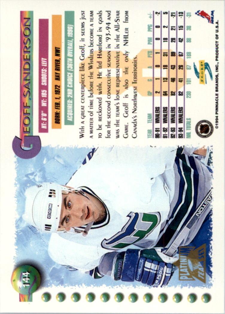 1994-95-Score-Platinum-Hockey-Card-Pick thumbnail 95