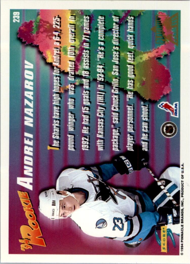 1994-95-Score-Platinum-Hockey-Card-Pick thumbnail 143