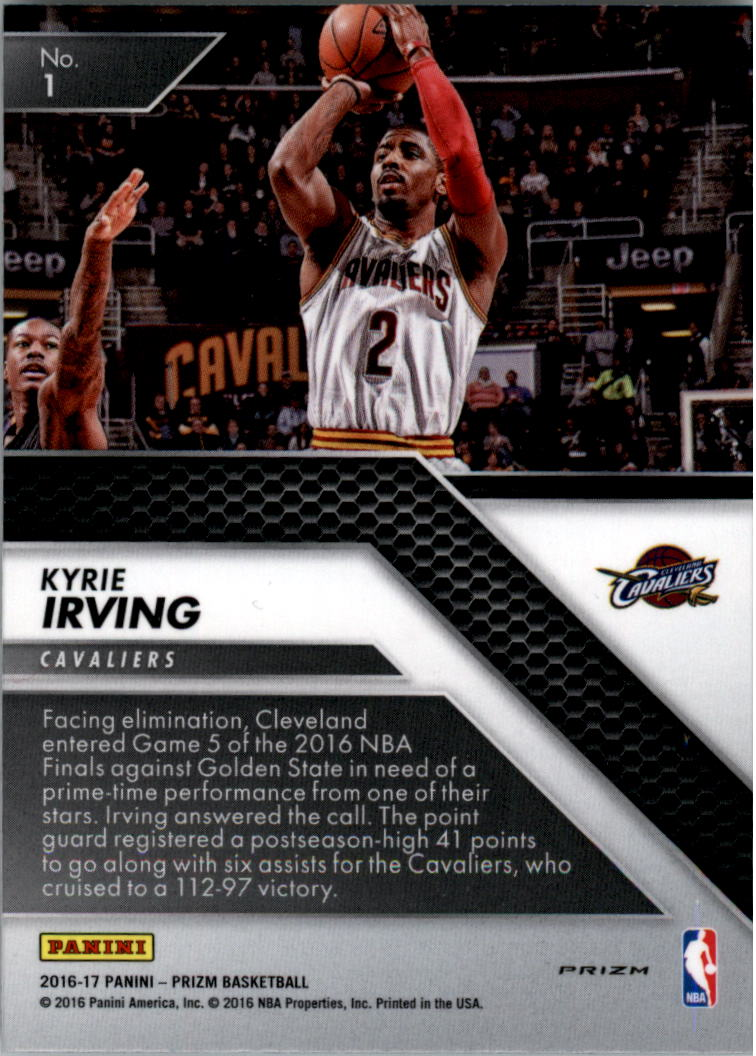 2016-17 Panini Prizm All Day Prizms Silver #1 Kyrie Irving back image