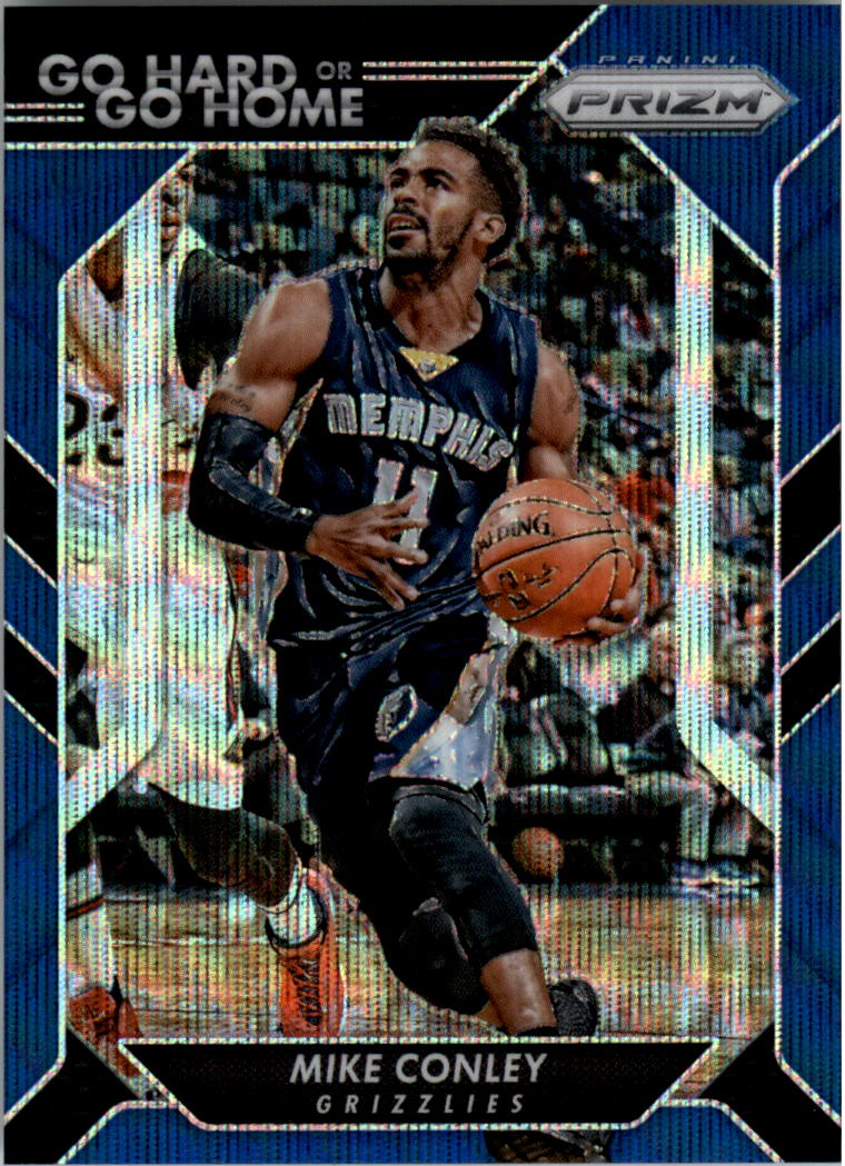 2016-17 Panini Prizm Go Hard or Go Home Prizms Blue Wave #8 Mike Conley