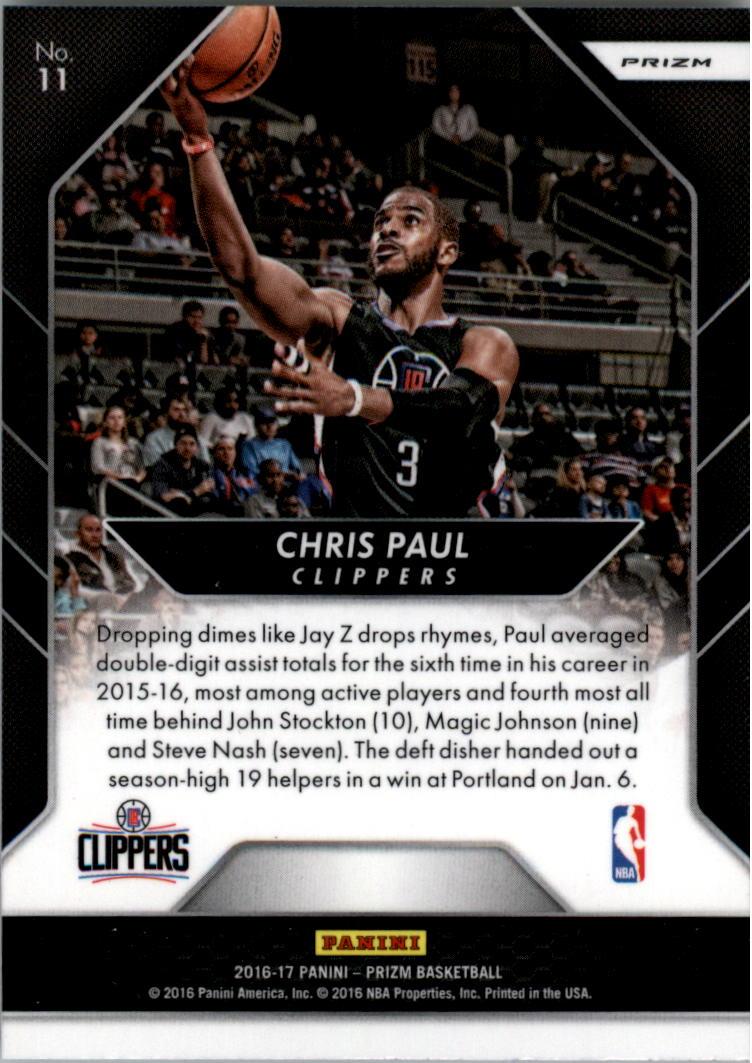 2016-17 Panini Prizm Go Hard or Go Home Prizms Silver #11 Chris Paul back image