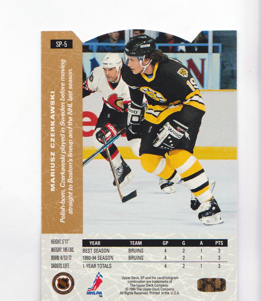 1994-95-Upper-Deck-SP-Inserts-Die-Cuts-Hockey-Cards-Pick-From-List miniature 3