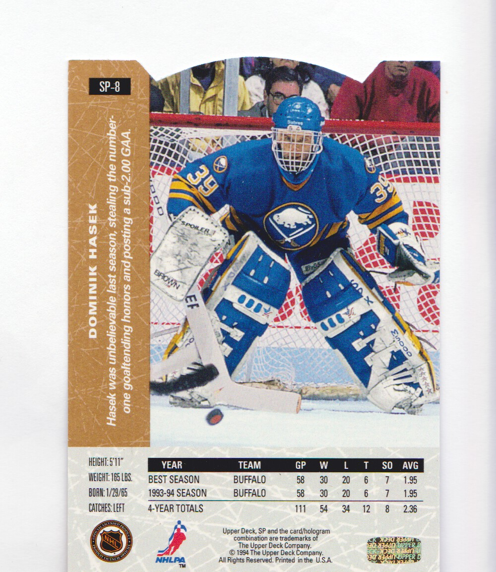 1994-95-Upper-Deck-SP-Inserts-Die-Cuts-Hockey-Cards-Pick-From-List miniature 7