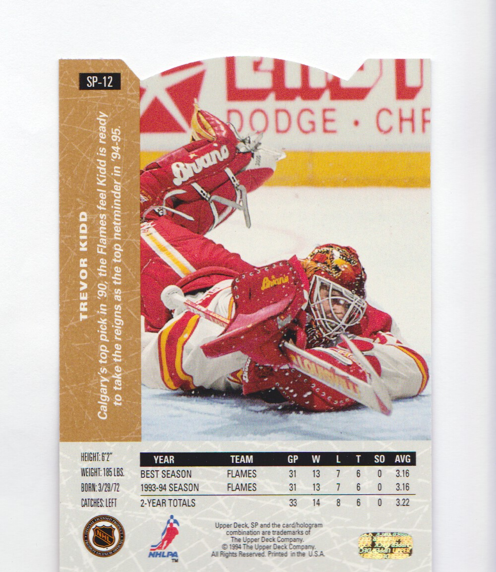 1994-95-Upper-Deck-SP-Inserts-Die-Cuts-Hockey-Cards-Pick-From-List miniature 13