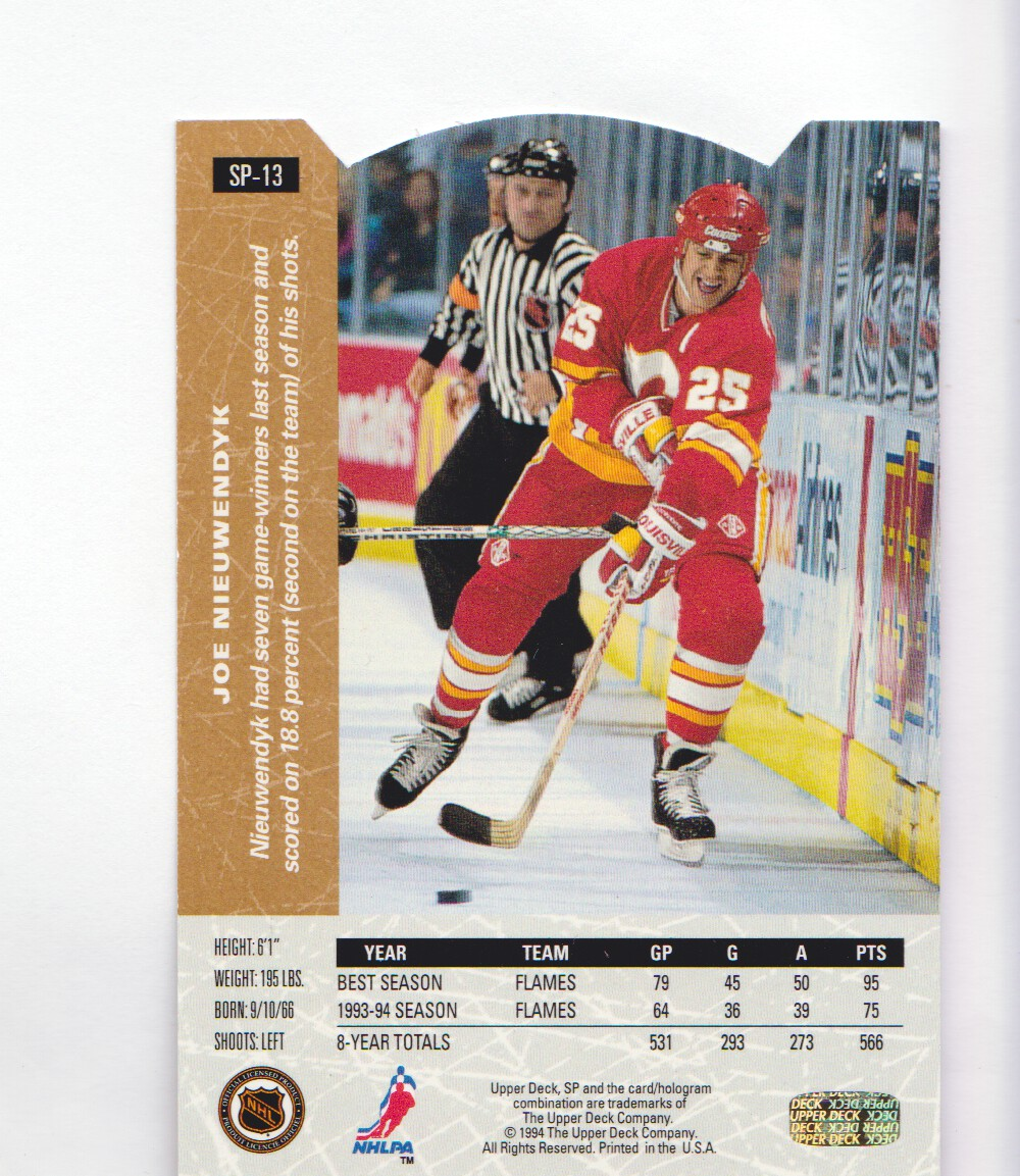 1994-95-Upper-Deck-SP-Inserts-Die-Cuts-Hockey-Cards-Pick-From-List miniature 15