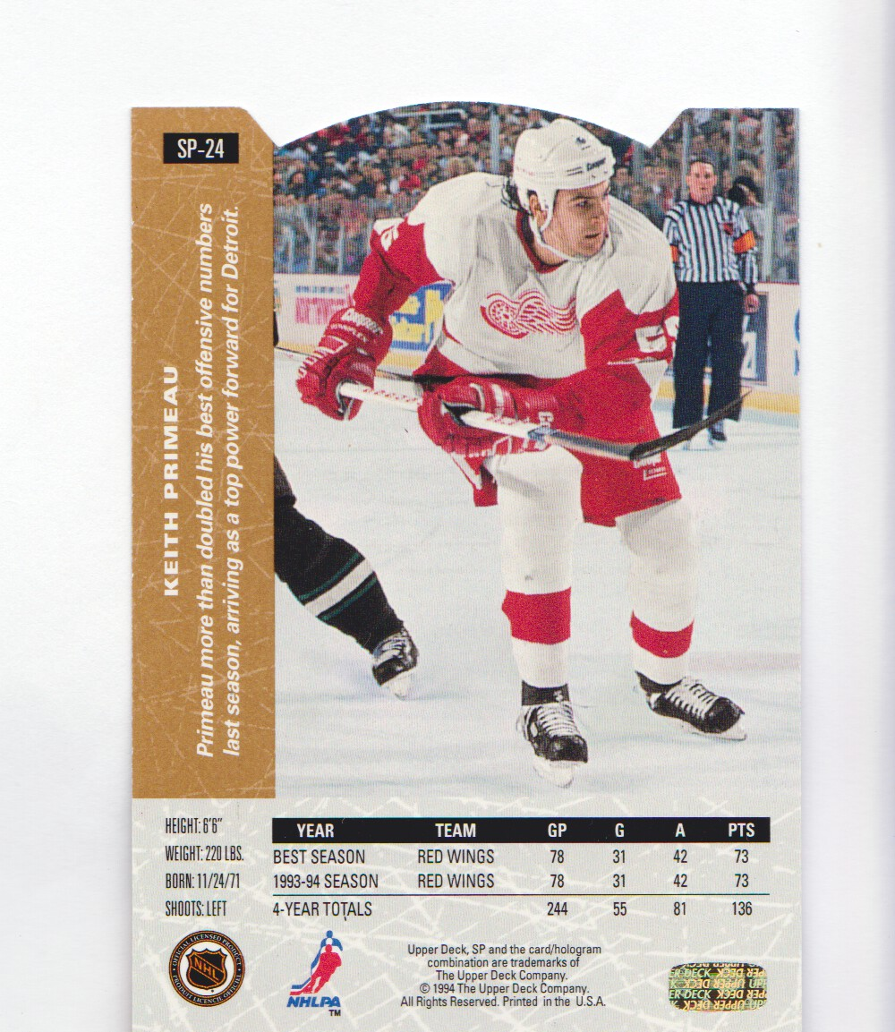 1994-95-Upper-Deck-SP-Inserts-Die-Cuts-Hockey-Cards-Pick-From-List miniature 21