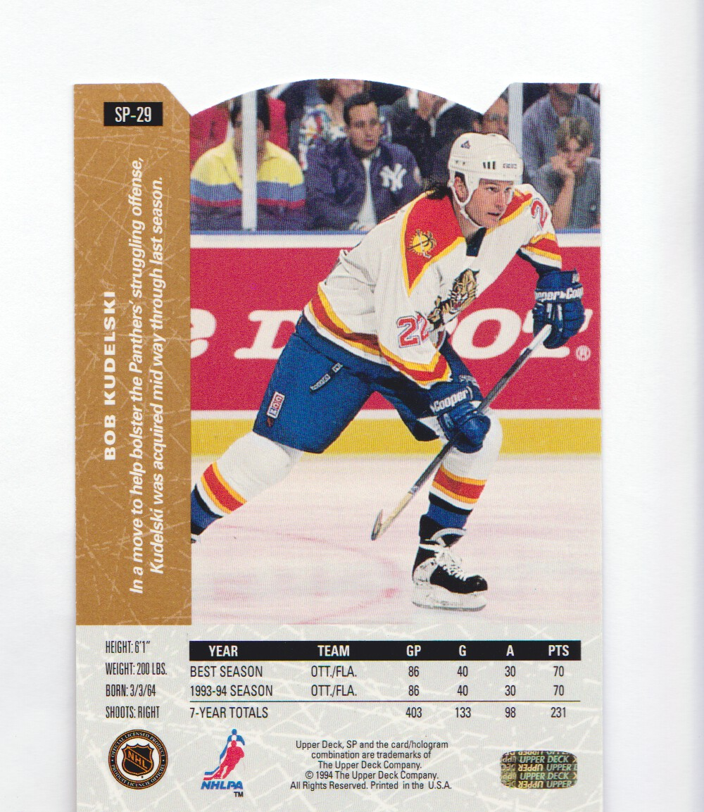 1994-95-Upper-Deck-SP-Inserts-Die-Cuts-Hockey-Cards-Pick-From-List miniature 23