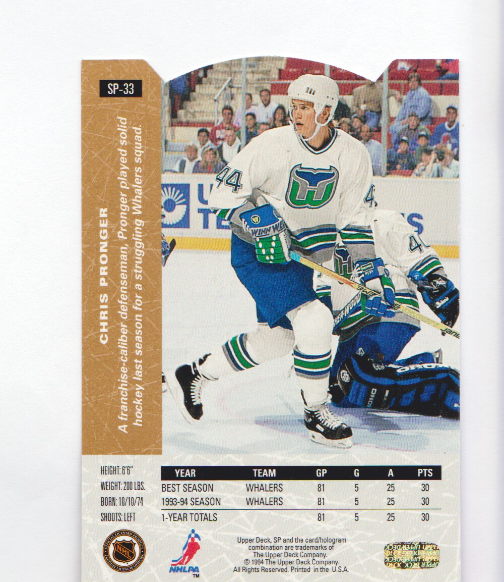 1994-95-Upper-Deck-SP-Inserts-Die-Cuts-Hockey-Cards-Pick-From-List miniature 25