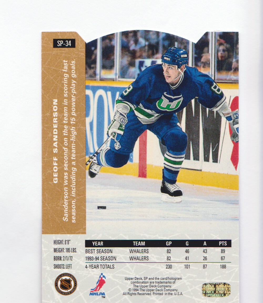 1994-95-Upper-Deck-SP-Inserts-Die-Cuts-Hockey-Cards-Pick-From-List miniature 27