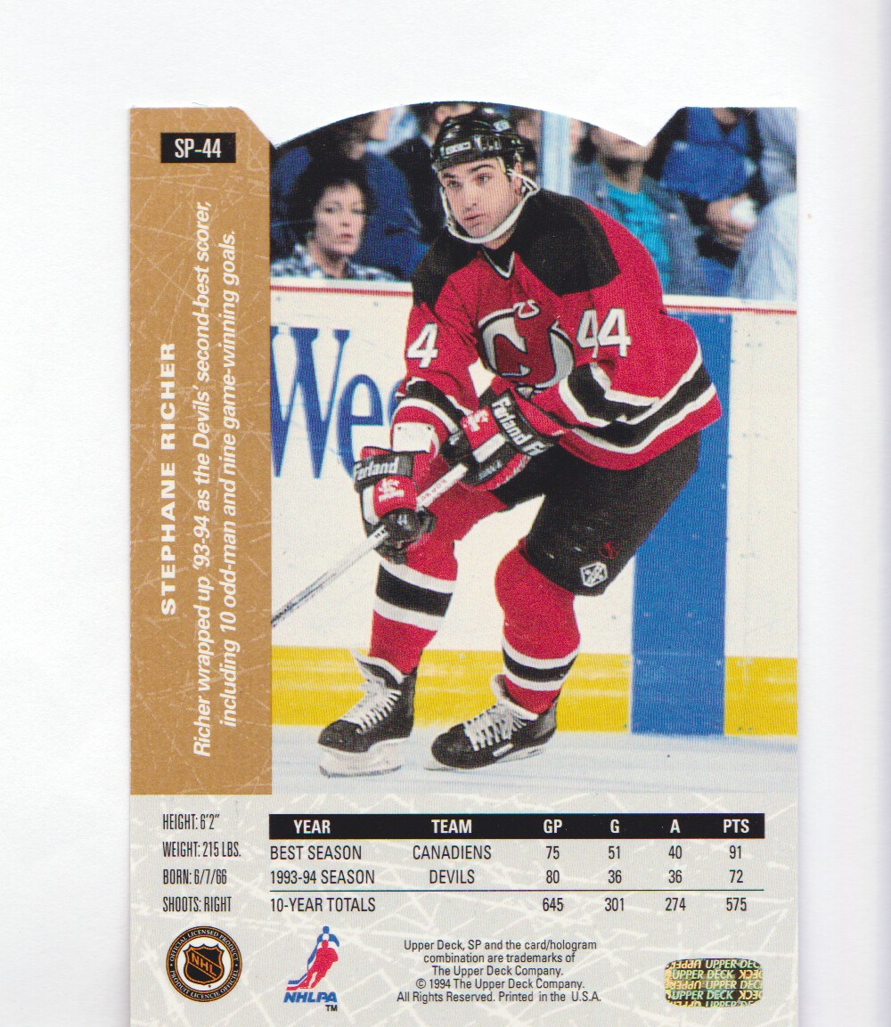 1994-95-Upper-Deck-SP-Inserts-Die-Cuts-Hockey-Cards-Pick-From-List miniature 29
