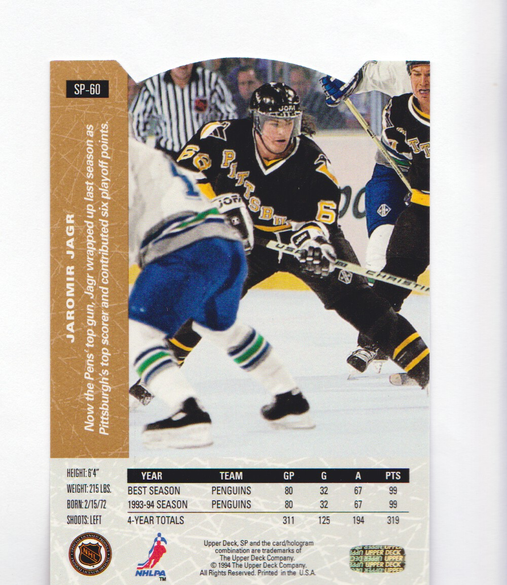 1994-95-Upper-Deck-SP-Inserts-Die-Cuts-Hockey-Cards-Pick-From-List miniature 33