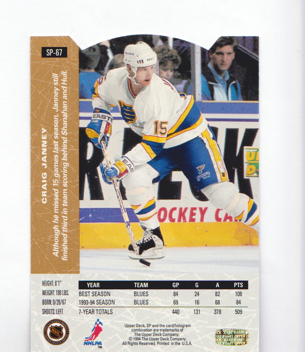 1994-95-Upper-Deck-SP-Inserts-Die-Cuts-Hockey-Cards-Pick-From-List miniature 35