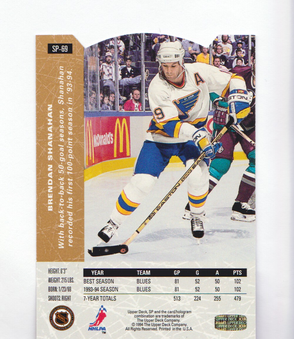 1994-95-Upper-Deck-SP-Inserts-Die-Cuts-Hockey-Cards-Pick-From-List miniature 37
