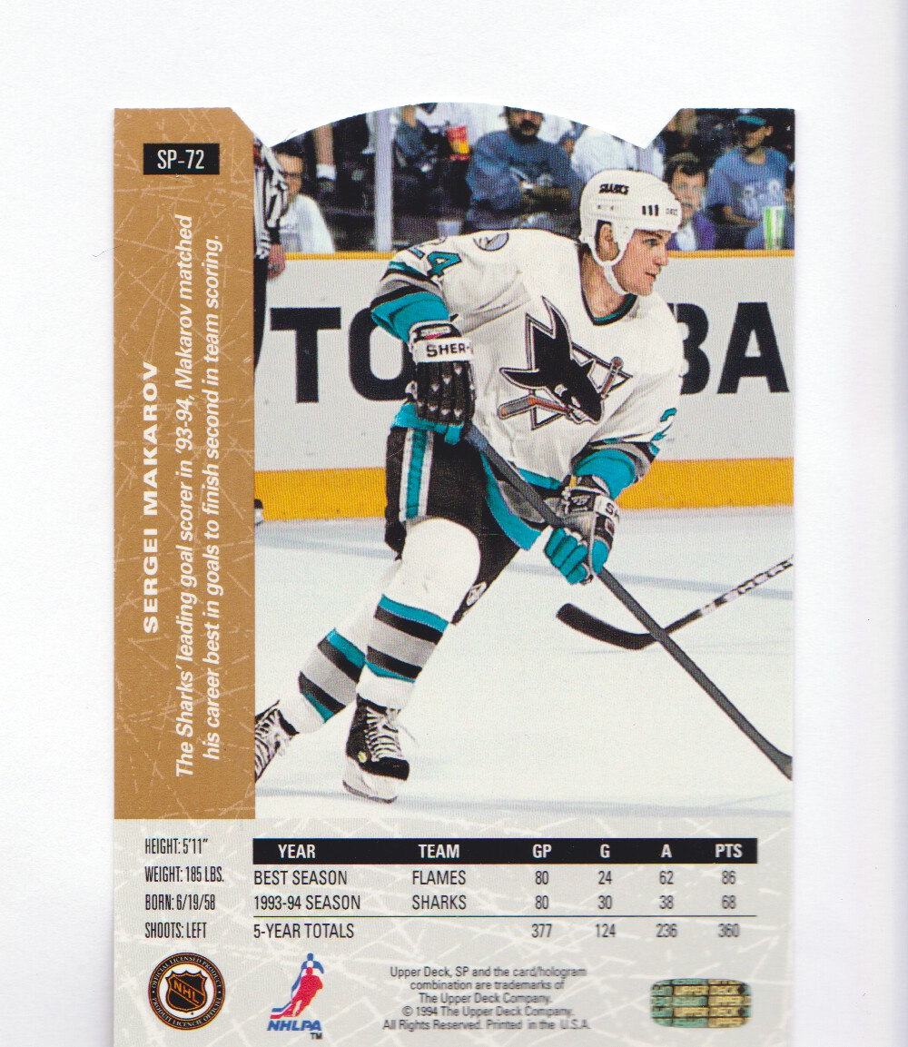1994-95-Upper-Deck-SP-Inserts-Die-Cuts-Hockey-Cards-Pick-From-List miniature 39