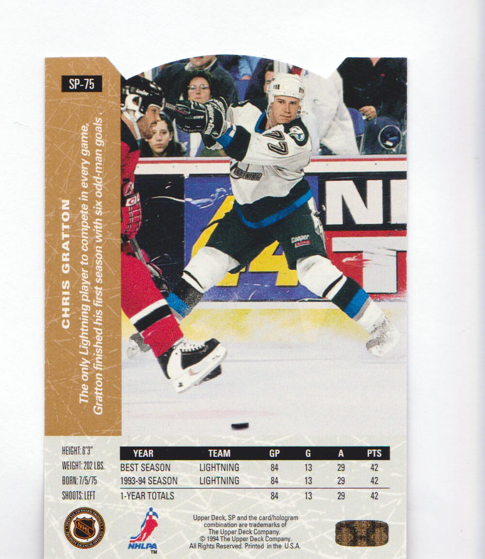 1994-95-Upper-Deck-SP-Inserts-Die-Cuts-Hockey-Cards-Pick-From-List miniature 41