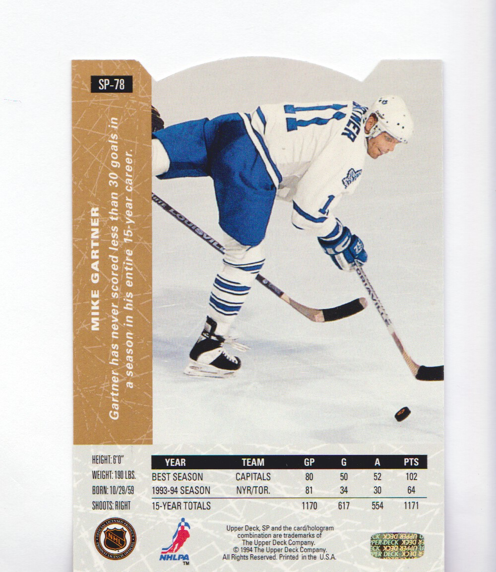 1994-95-Upper-Deck-SP-Inserts-Die-Cuts-Hockey-Cards-Pick-From-List miniature 43